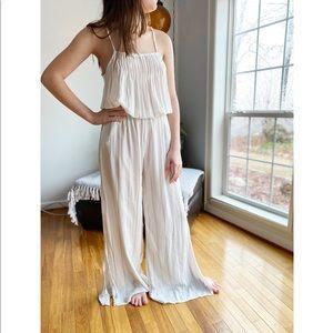 Faithfull the Brand Striped Sleeveless Jumpsuit
